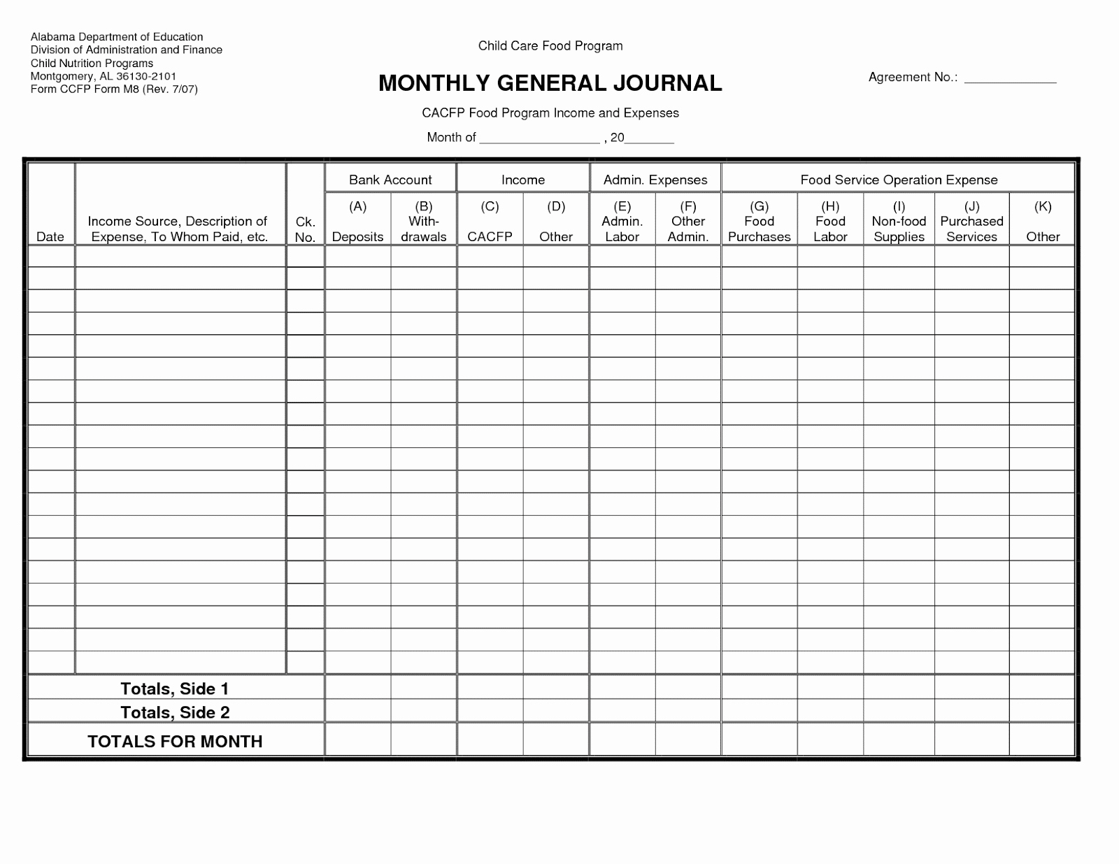 Free Small Business Ledger Template Unique Free Templates Download