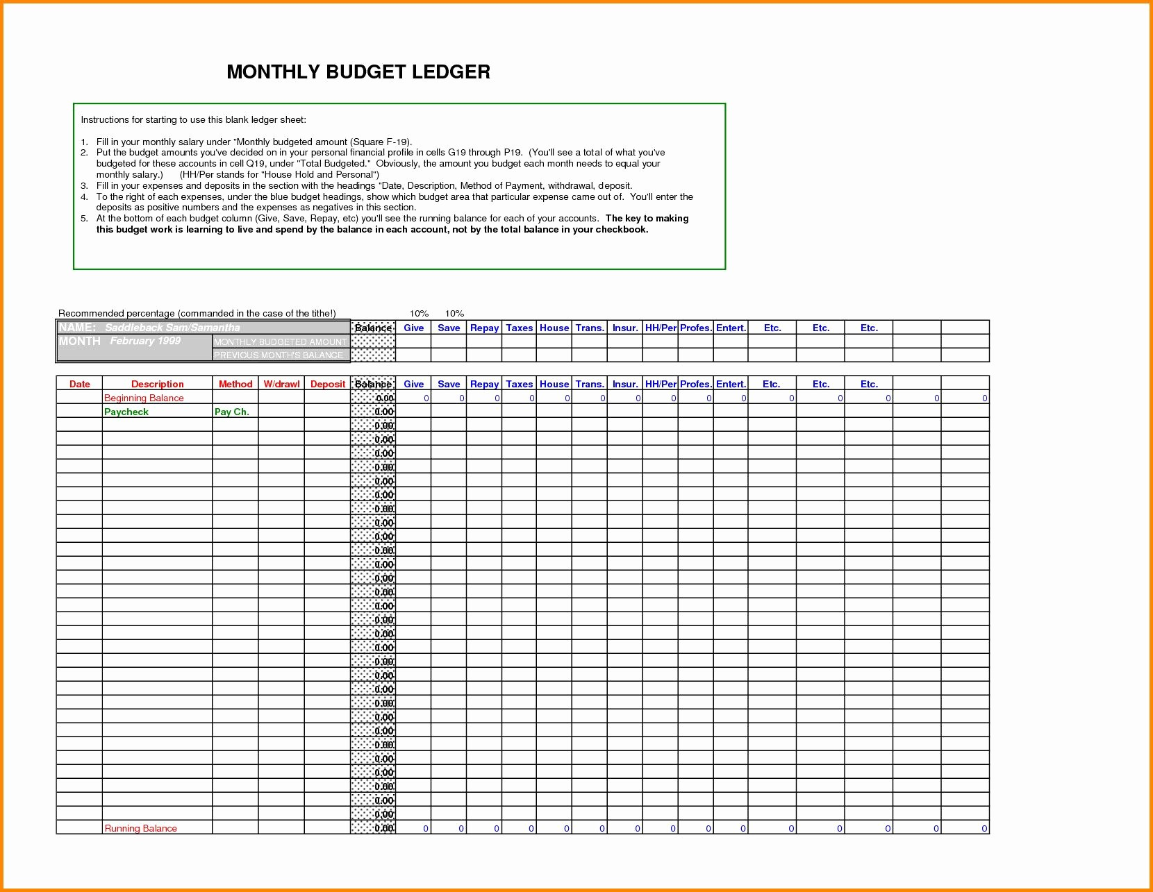 Free Small Business Ledger Template Unique General Ledger Template Excel Glendale Munity