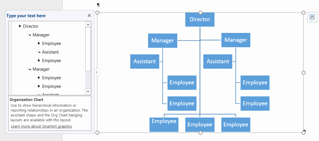 Free Smartart Graphics for Word New How to Create An organization Chart Using Smartart In Word