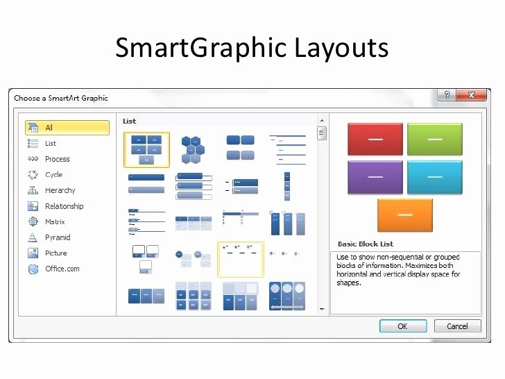 Free Smartart Graphics for Word Unique Types Of Smartart Graphics In Powerpoint 2010