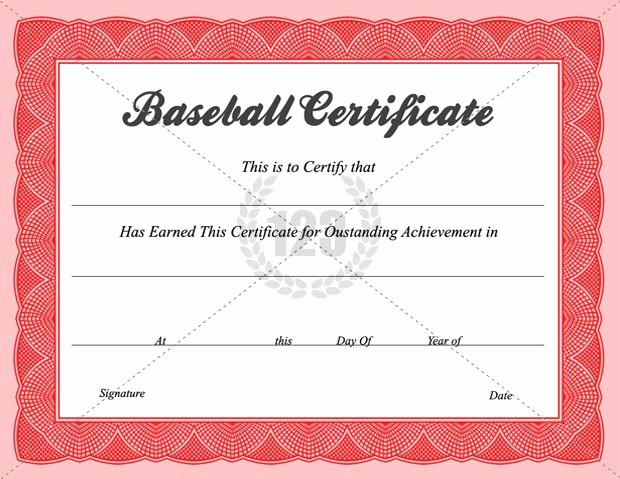 Free softball Certificates to Print Awesome Baseball Certificate Templates Baseball Award Certificate