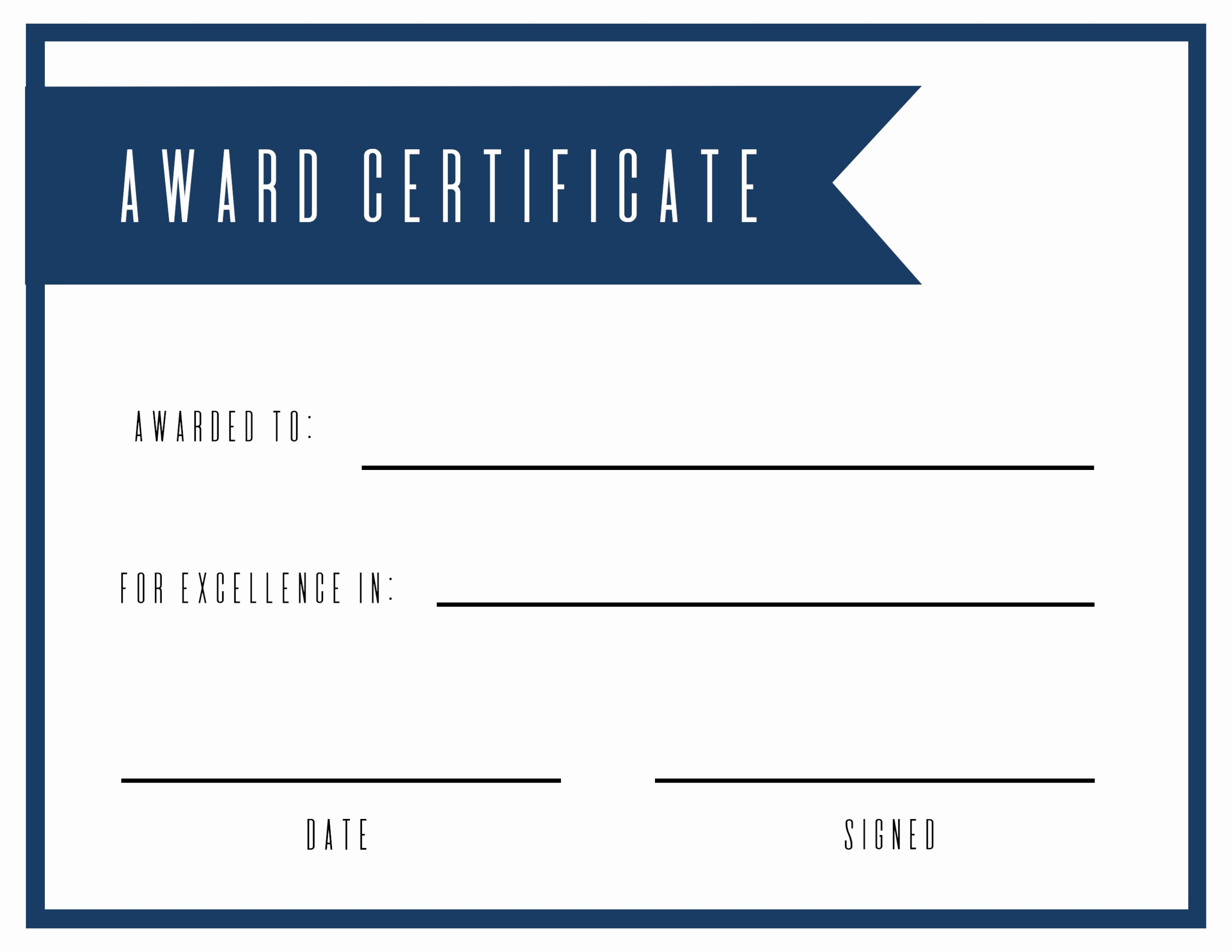 Free softball Certificates to Print Beautiful Free Printable Award Certificate Template Paper Trail Design