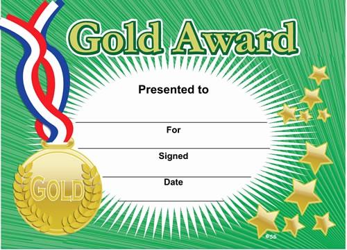 Free softball Certificates to Print Beautiful Gold Award Sports Certificates