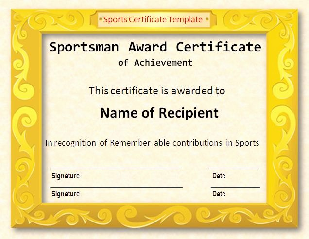Free softball Certificates to Print Beautiful Sports Award Templates Choice Image Free Templates Ideas