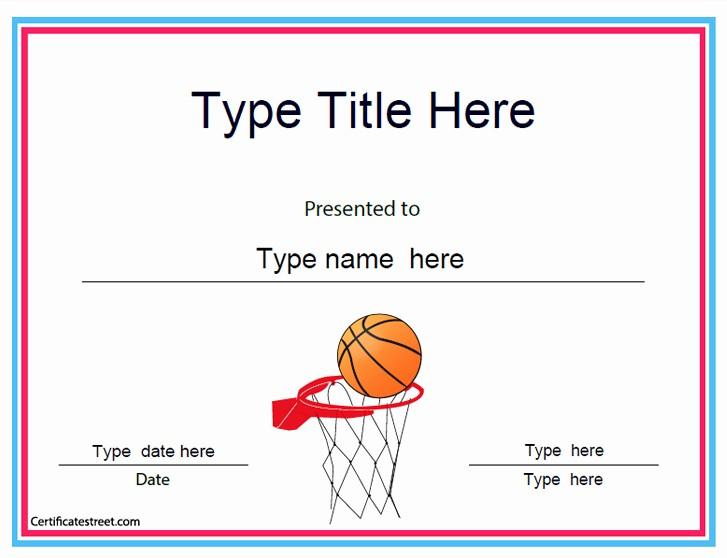Free softball Certificates to Print Beautiful Sports Certificates Baskeball Achievement Certificate