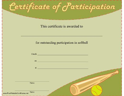 Free softball Certificates to Print Best Of 71 Best Images About softball On Pinterest