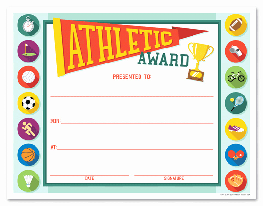 Free softball Certificates to Print Fresh 10 Best Of athletic Certificate Templates Sports