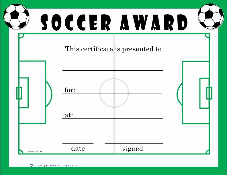 Free softball Certificates to Print Fresh Free soccer Certificates Certificate Free soccer