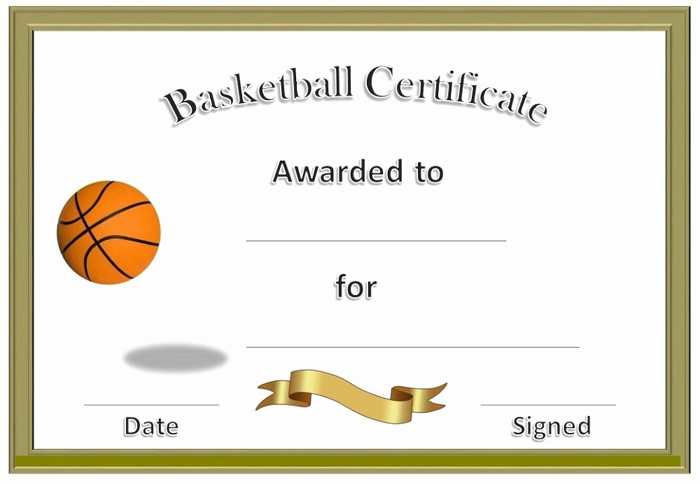 Free softball Certificates to Print Inspirational Basketball Award Certificate to Print