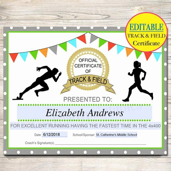 Free softball Certificates to Print Inspirational Track and Field Certificate Templates