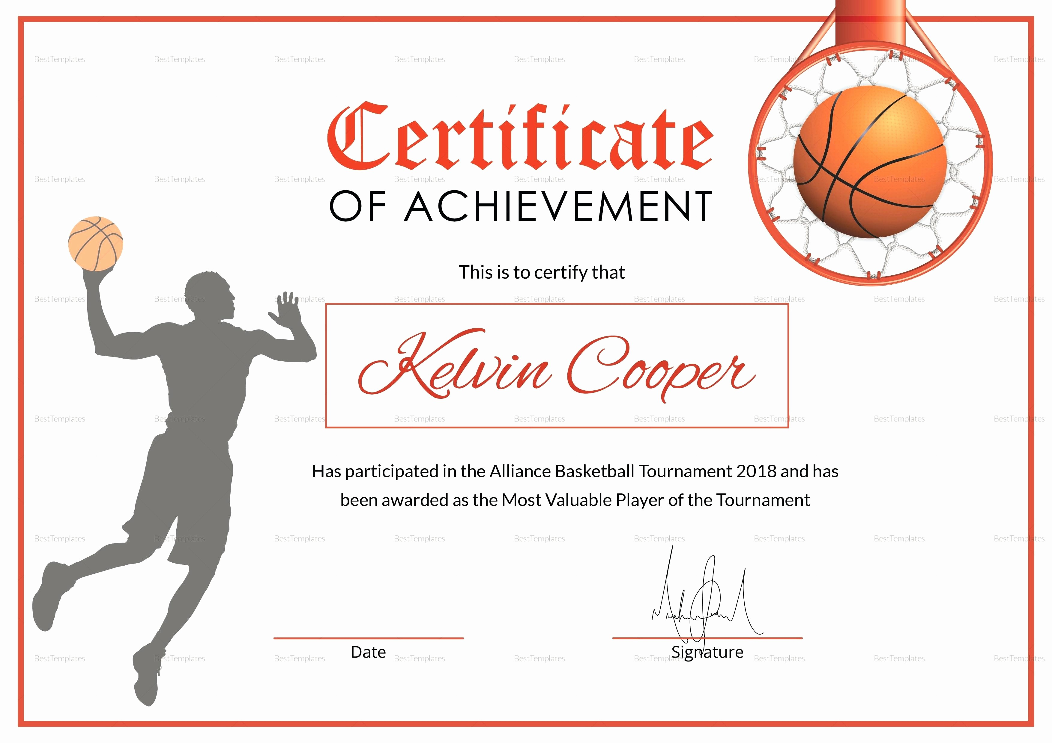 Free softball Certificates to Print Lovely Template Sport Certificate Template