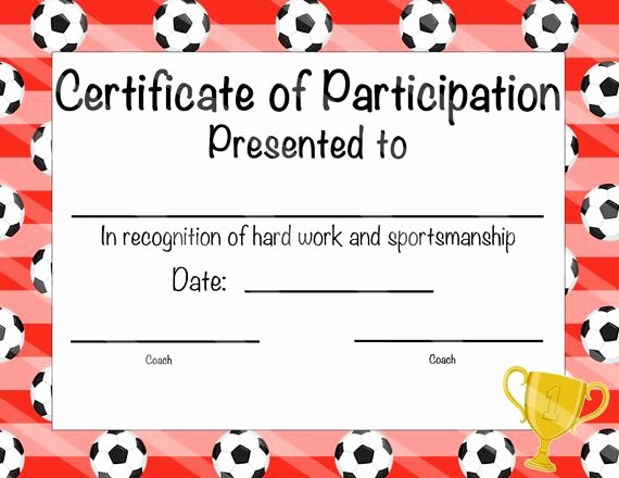 Free softball Certificates to Print Luxury Items Similar to soccer Certificate Of Achievement