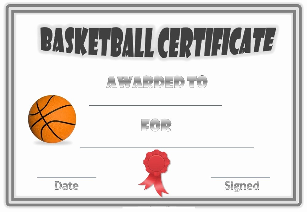 Free softball Certificates to Print New Free Basketball Certificates Blank