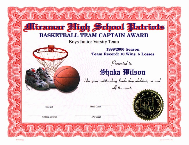 Free softball Certificates to Print Unique Basketball Award Templates software Free Download