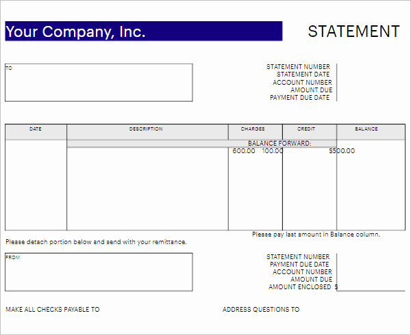 Free Statement Of Accounts Template Beautiful 30 Free Bank Statement Template Pdf Psd Doc Excel