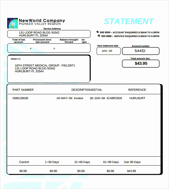Free Statement Of Accounts Template Best Of 11 Statement Of Account Samples
