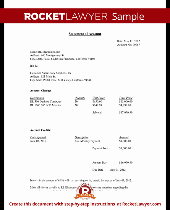 Free Statement Of Accounts Template Elegant Statement Of Account Free Statement Of Account Letter