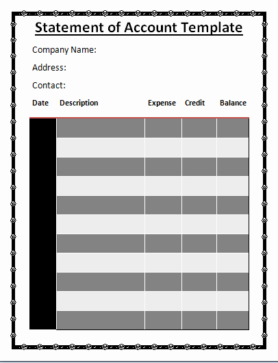 Free Statement Of Accounts Template Lovely 11 Statement Of Accounts Templates