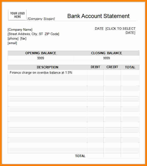 Free Statement Of Accounts Template Luxury 8 Statement Of Account Template Free