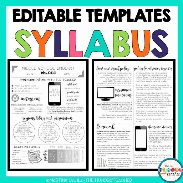 Free Syllabus Template for Teachers Elegant Best 25 Syllabus Template Ideas On Pinterest