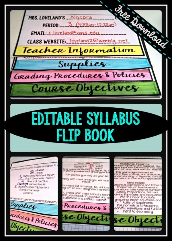 Free Syllabus Template for Teachers Fresh Free Editable Powerpoint for Creating A Flip Book Syllabus