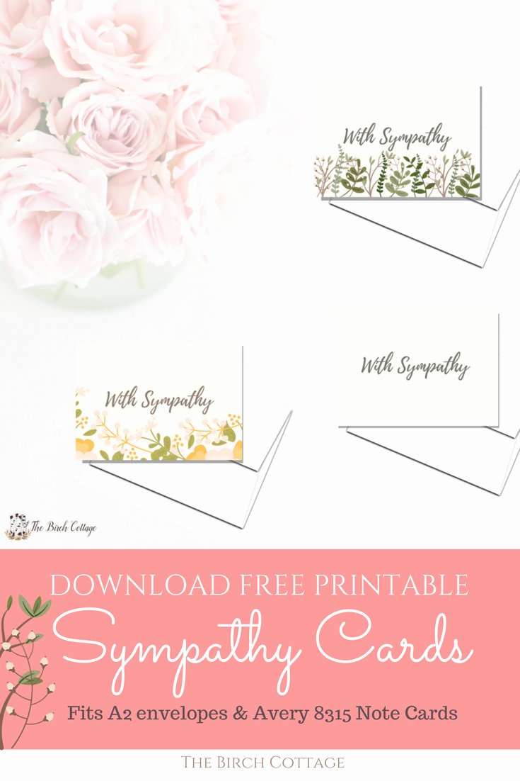 Free Sympathy Cards to Print Beautiful A Bundle Of Joy & some Heartbreaking News with Printable
