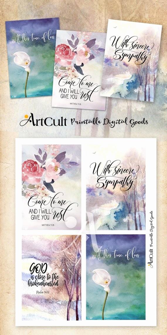 Free Sympathy Cards to Print Beautiful Printable Sympathy Condolence Cards No 1 Digital