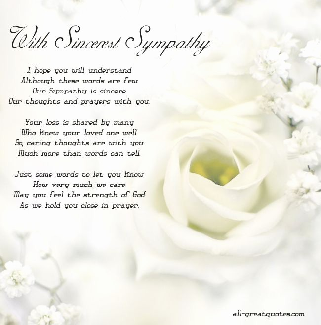 Free Sympathy Cards to Print Fresh with sincerest Sympathy Free Sympathy Cards to