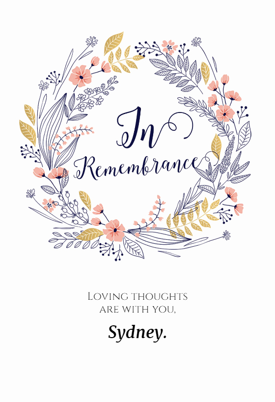 Free Sympathy Cards to Print Lovely In Remembrance Free Sympathy & Condolences Card