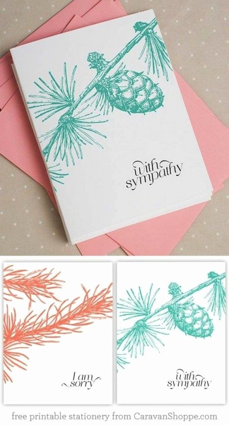 Free Sympathy Cards to Print Luxury Beautiful Free Sympathy Notecards From Caravan Shoppe