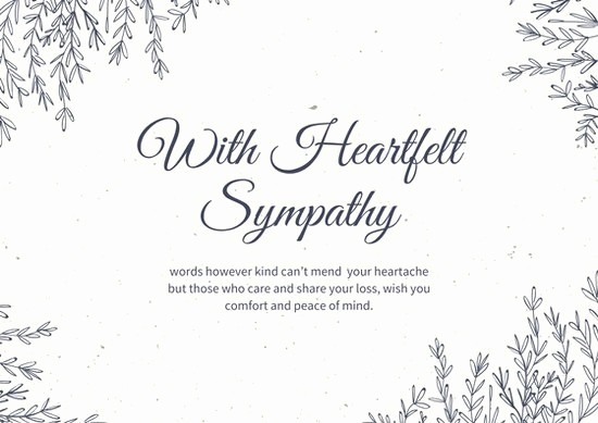 Free Sympathy Cards to Print Unique Sympathy Card Template Invitation Template