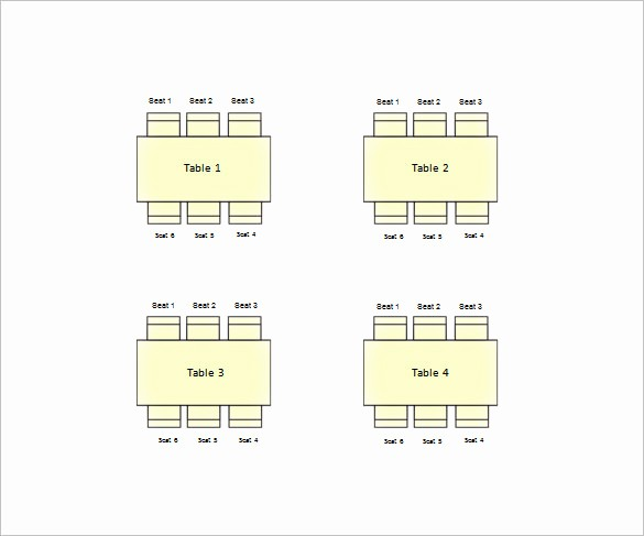 Free Table Seating Chart Template Elegant 11 Table Seating Chart Templates Doc Pdf Excel