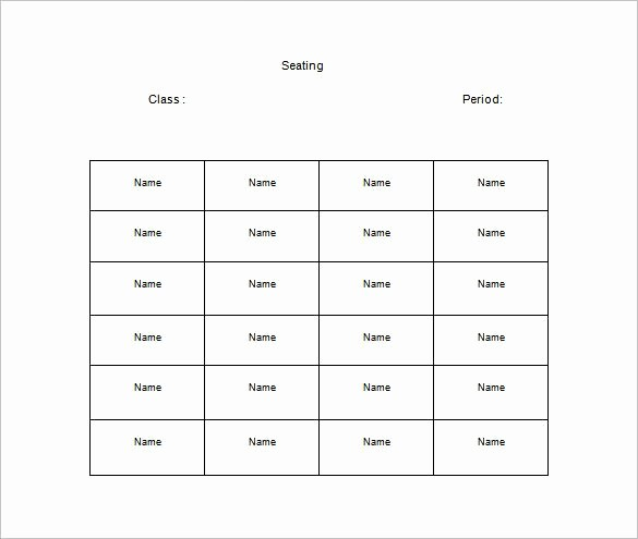 Free Table Seating Chart Template Elegant Classroom Seating Chart Template 22 Examples In Pdf