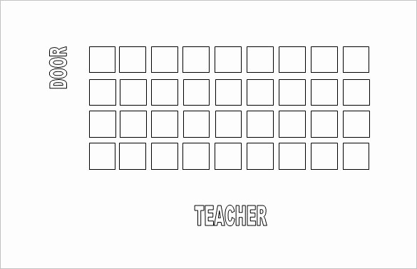 Free Table Seating Chart Template New Classroom Seating Chart Template 22 Examples In Pdf
