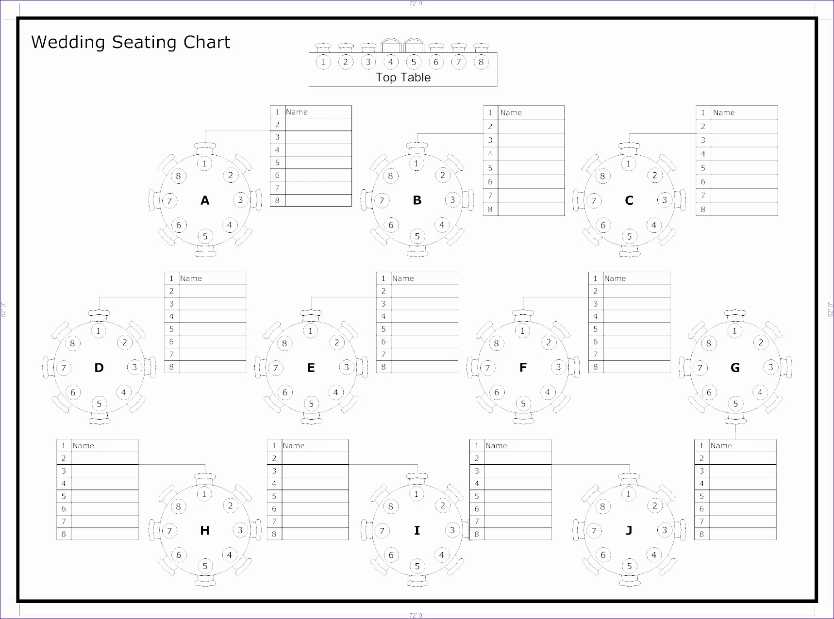 Free Table Seating Chart Template Unique 6 Wedding Seating Chart Template Excel Exceltemplates