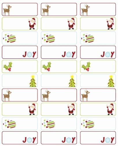 christmas mailing labels template word