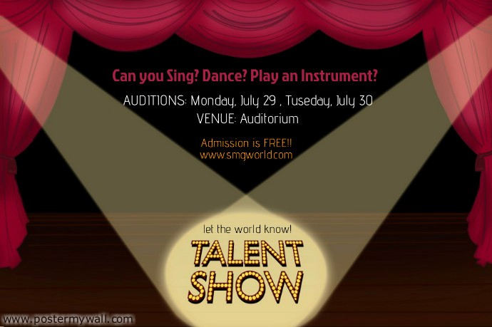 Free Talent Show Flyer Template Awesome Talent Show Flyer Template
