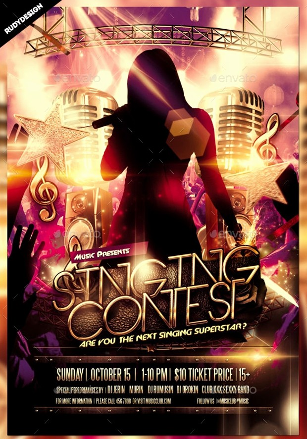Free Talent Show Flyer Template Beautiful 20 Talent Show Flyer Templates Printable Psd Ai