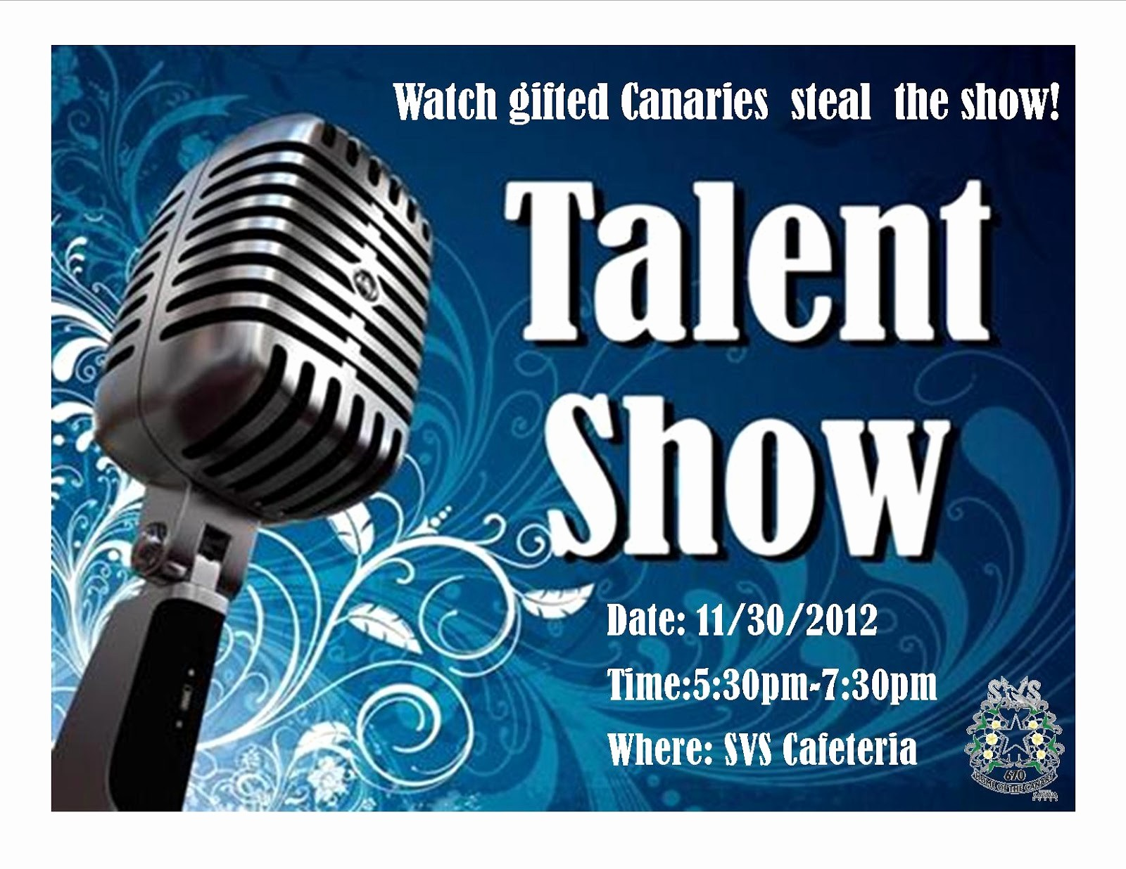 Free Talent Show Flyer Template Elegant Aiming High News From the Canary S Nest