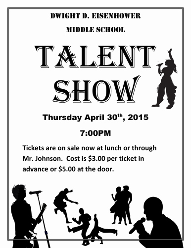 Free Talent Show Flyer Template Elegant Talent Show the Kit to Run Your event Students