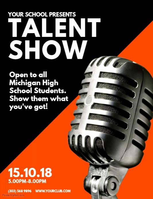 Free Talent Show Flyer Template Inspirational Talent Show Flyer Template