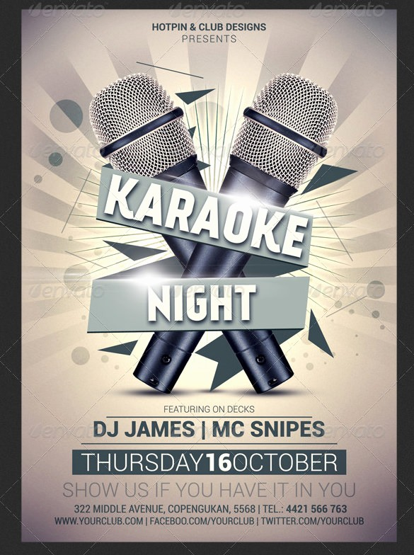 Free Talent Show Flyer Template Lovely Karaoke Flyer Design Yourweek F0e836eca25e