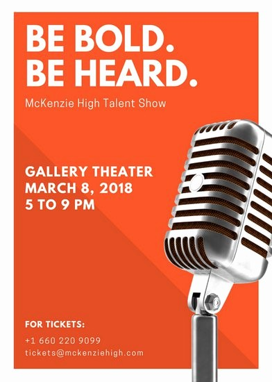 Free Talent Show Flyer Template Luxury Customize 127 Talent Show Flyer Templates Online Canva