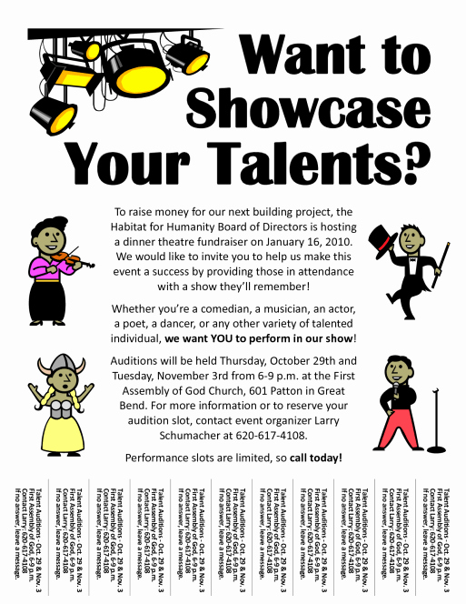 Free Talent Show Flyer Template New Amazing Talent Show Flyer Templates Word Excel Samples