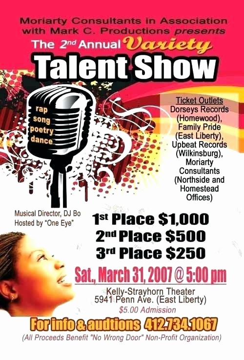 Free Talent Show Flyer Template New Talent Show Flyer Template Poster Background – Bigdatahero