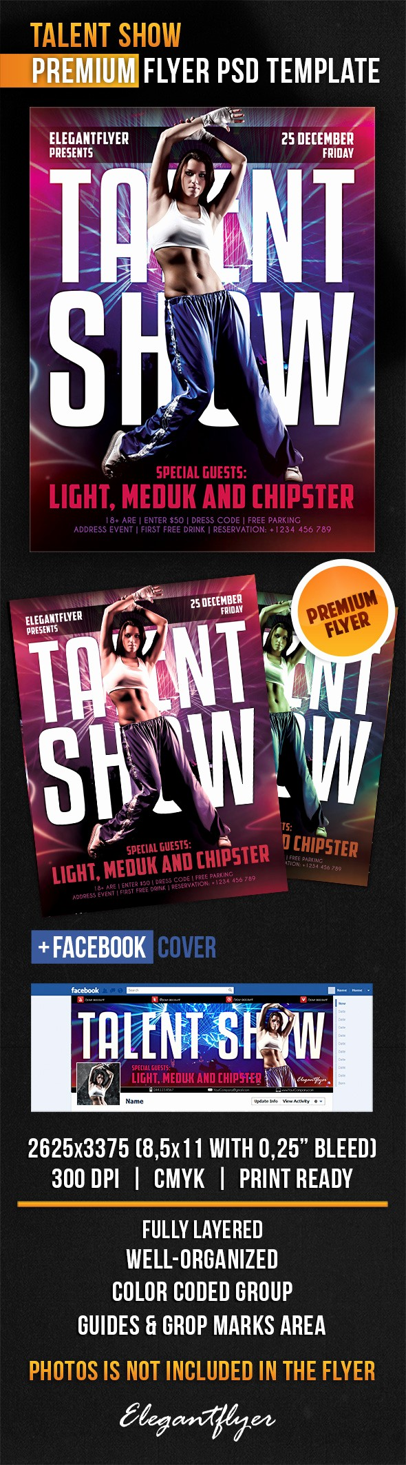 Free Talent Show Flyer Template Unique Talent Show – Flyer Psd Template – by Elegantflyer
