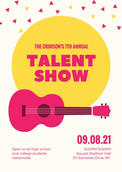 Free Talent Show Flyer Template Unique Yellow Stars Illustration Talent Show Auditions Flyer