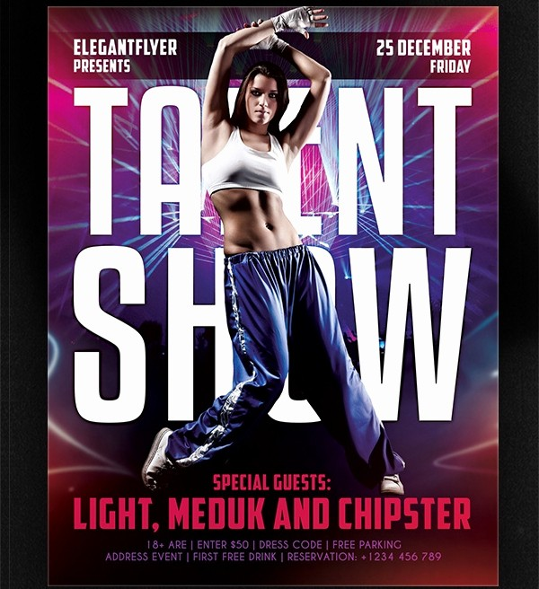 Free Talent Show Flyer Templates Awesome 62 Free Psd Flyer Templates Psd