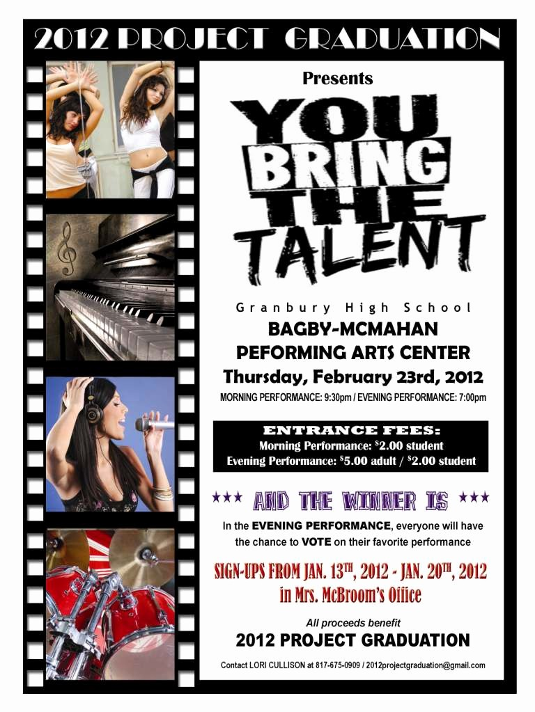 Free Talent Show Flyer Templates Awesome Sample Of Poster for Elementary School