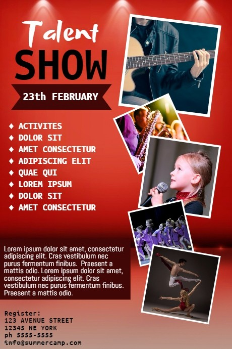 Free Talent Show Flyer Templates Awesome Talent Show Flyer Template